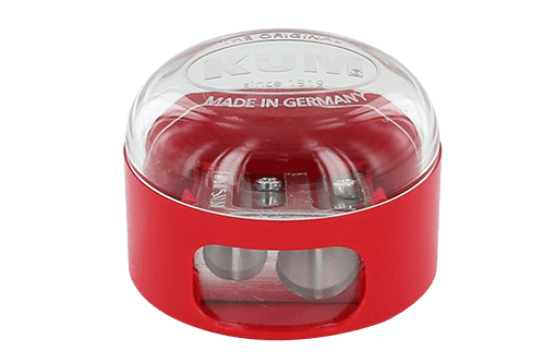 Magnesiumanspitzer mit Haubendeckel. Auch mit Kunststoffanspitzer erhältlich.