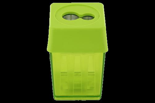 Magnesiumanspitzer mit Kunststoffbehälter.