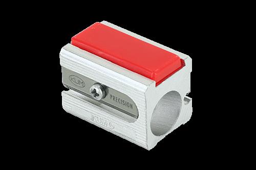 Magnesium Doppelanspitzer, Blockform mit seitlichen Riefen und 2 Ersatzmessern