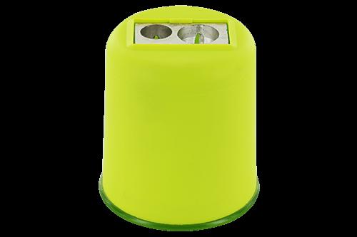 Einfach- oder Doppelspitzer mit Behälter aus Magnesium, flexibel und bruchsicher. Auch mit Kunststoffanspitzer erhältlich.
