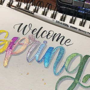 Brush Lettering Spruch