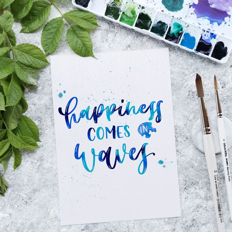 Brush Lettering Spruch: Every moment matters