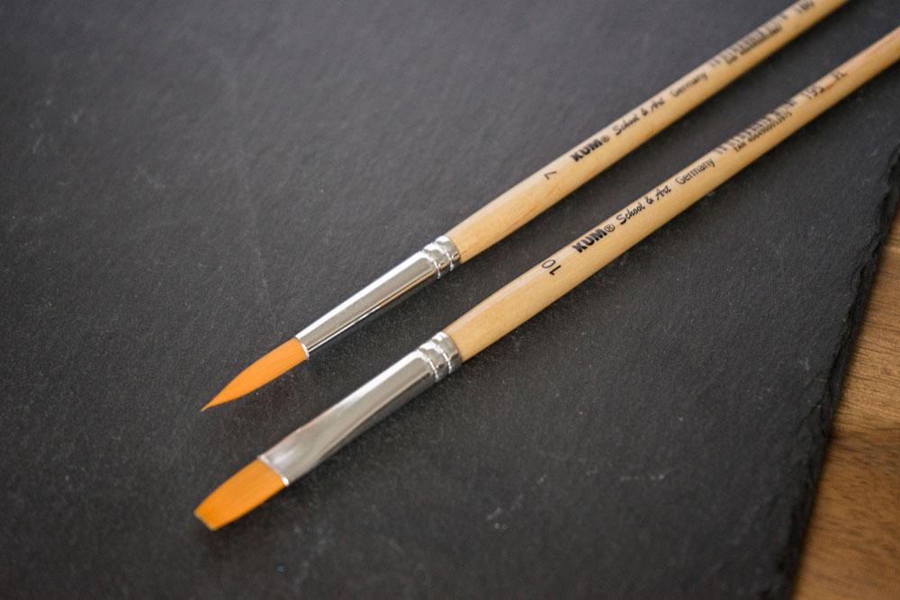 school and art brush